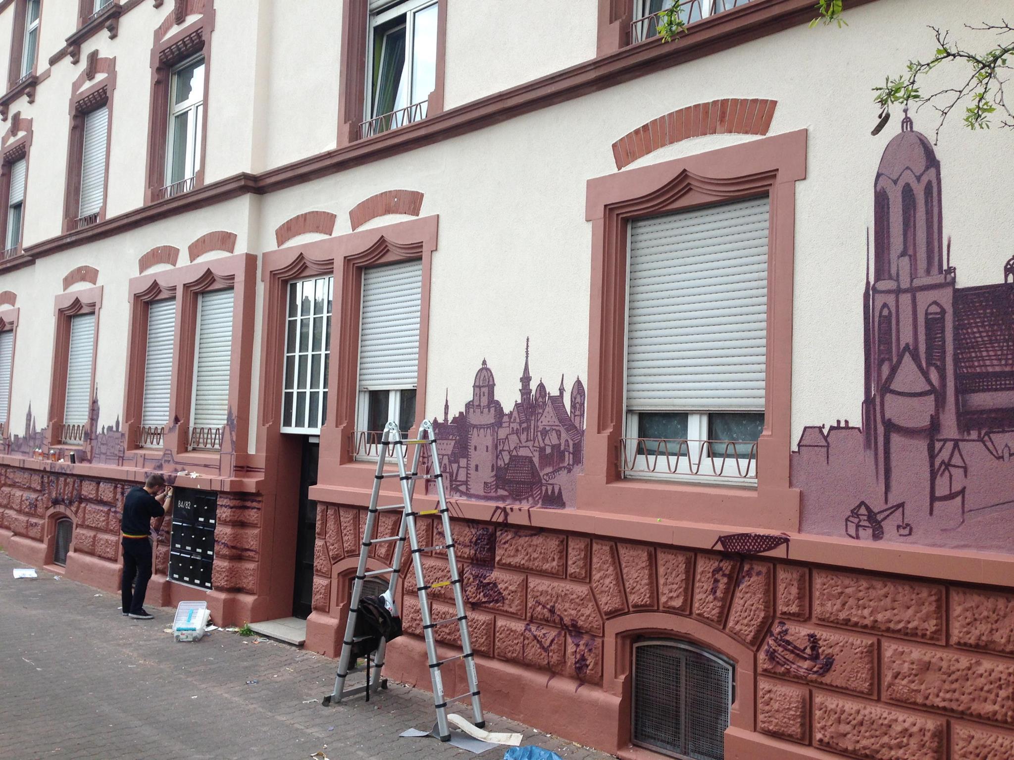 Mural-Frankfurt-Skyline