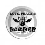 lovepeacebombersticker