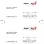Visitenkarten Eventworx 2003