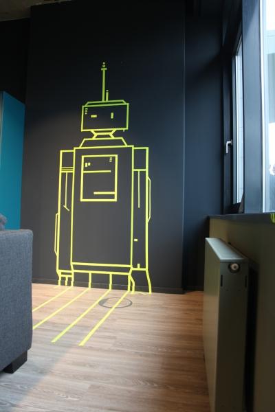 Vinci-Roboter-Tape-Art