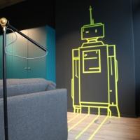 Roboter-Tape-Art