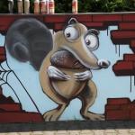 scrat-wall