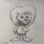 Löwe Skizze