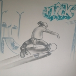 Skateboarding Skating Graffiti