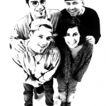Team Oxygen the art agency 1996: Kuros Rafii, Helge Steinmann/BOMBER, Fedor Wildhardt/CANTWO, Nicola Sprenger