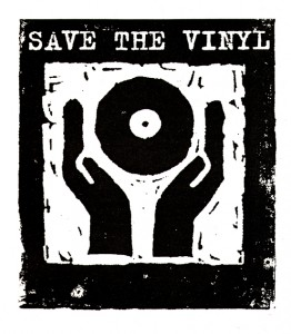 Save the vinyl Logo, 1993