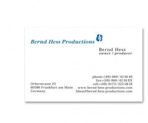 Bernd Hess Musicproduction