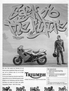 Graffiti Advertising campaign Triumph Motorcycles Back to the future, 1992