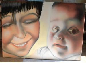 Portrait-Alena-Bernd Schmidt 2010, Farbsprühdose auf Leinwand, Spraycan on canvas, ca. 100 x 120 cm, 2010