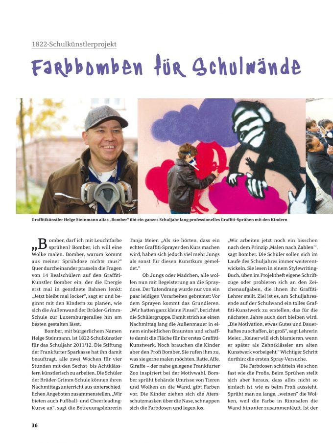 Schulkünstler 2012 der Stiftung Frankfurter Sparkasse