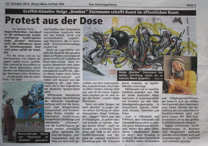 Protest aus der Dose – Protest out of the can