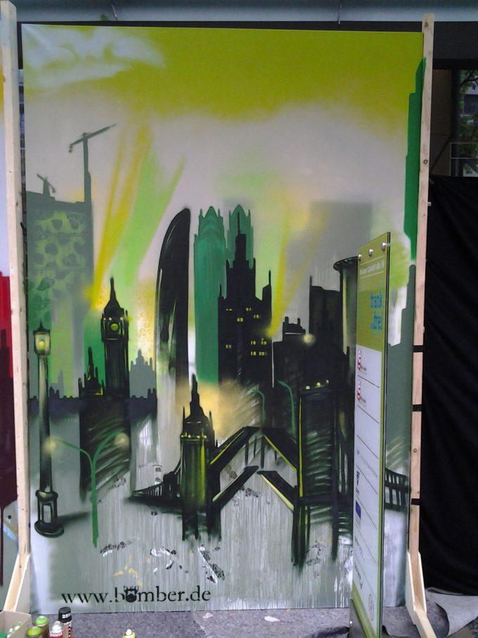 Graffiti Art auf Leinwand 4 sale – Graffiti Art on canvas 4 sale – Wolkenkratzer Festival