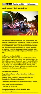 Architcture Lightpainting Luminale Senckenberg 2014