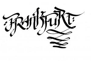 Urban calligraphy: Frankfurt, 2014