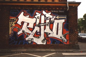 Typo-Style. Stylewriting/Graffiti, 1991, Brotfabrik, Frankfurt, Germany