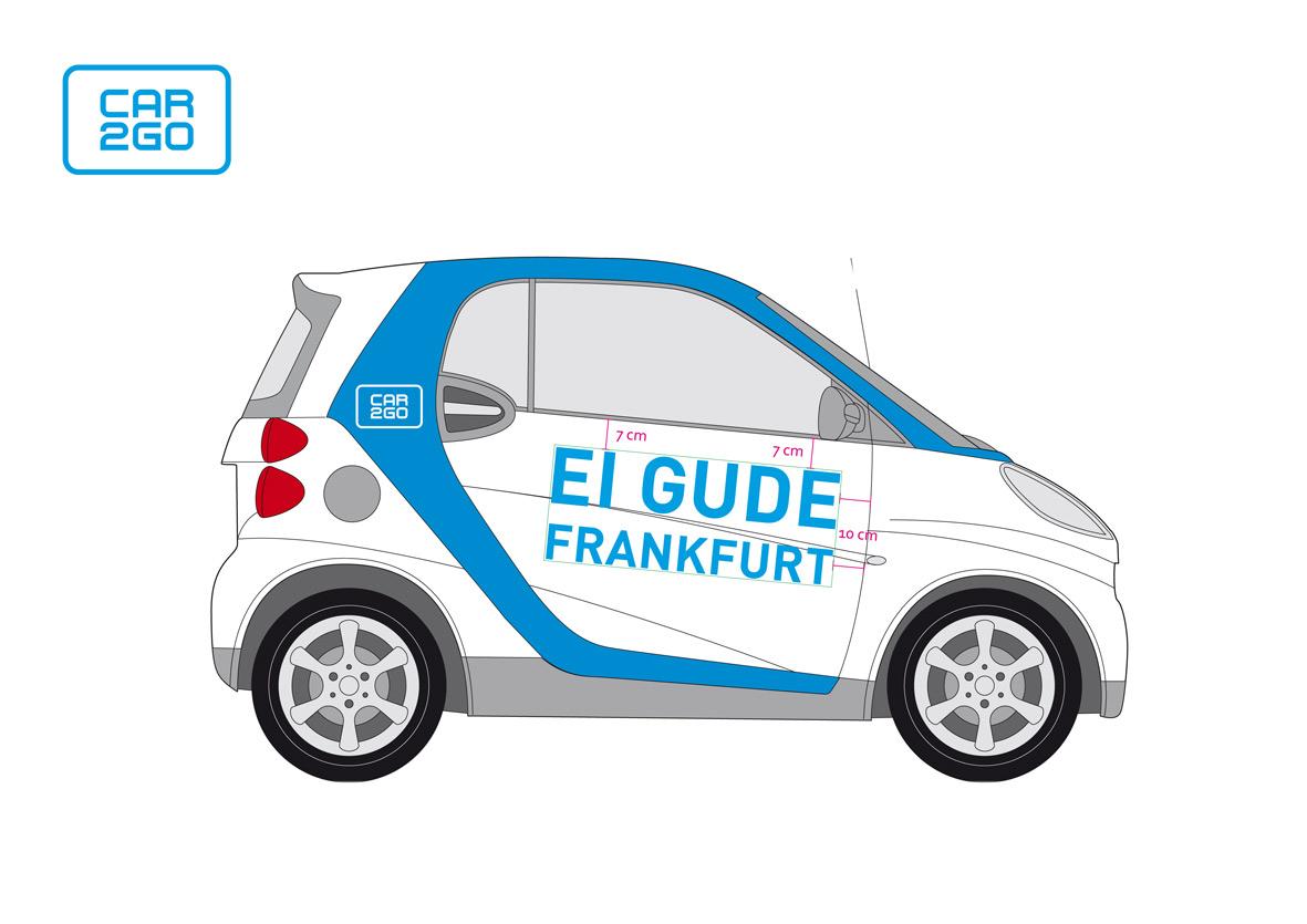 Markenbotschafter ambassador of car2go bomber studio for Graphic design frankfurt
