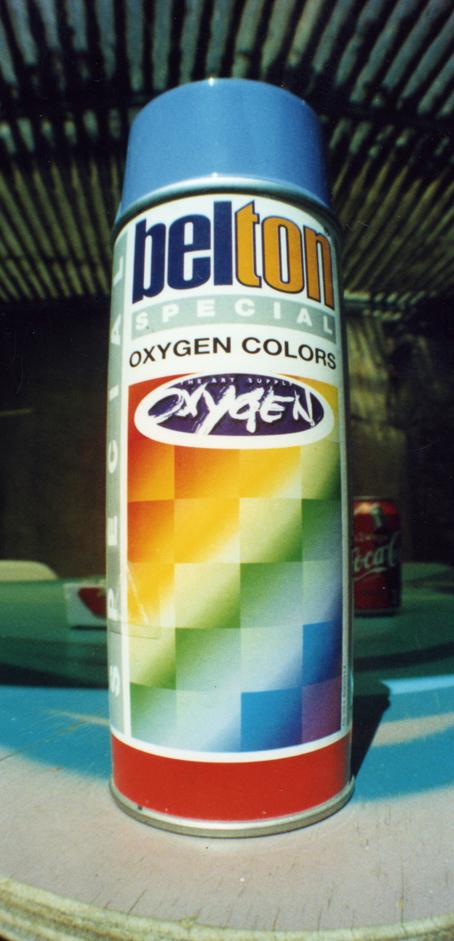 Oxygen the art supply Präsentation der Belton Oxygen Dose 1996