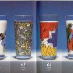 Ritzenhoff Milkglas Graffiti Edition 1997 BOMBER, CEMNOZ, DAIM, LOOMIT, PETE, MATE, NEON.