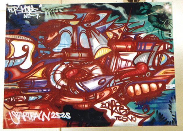 startraincanvasbomber1992