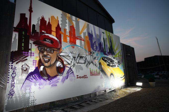 Key Visual & Live Graffiti Art at Kia Media Lounge @ Harbour Club Oost, Amsterdam